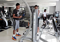 EMCC students work out in the Wellness Center on the Scooba campus.
