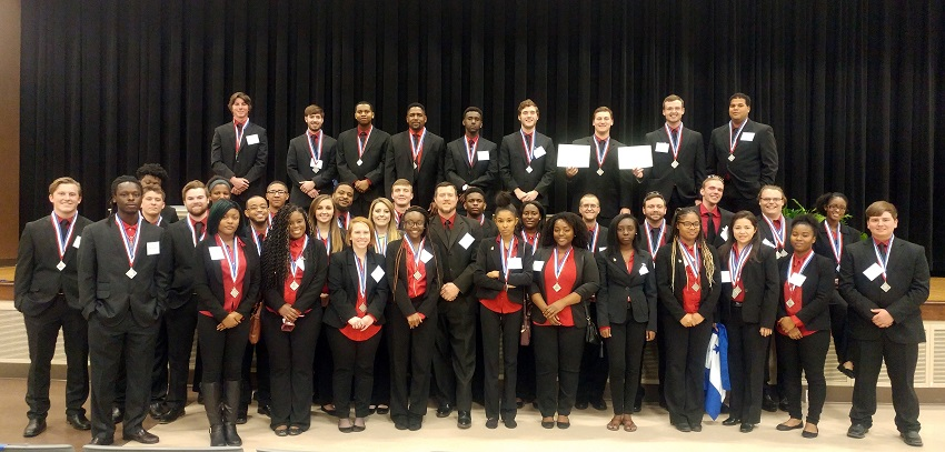 EMCC DECA STUDENTS EARN SCHOOL RECORD NUMBER OF AWARDS