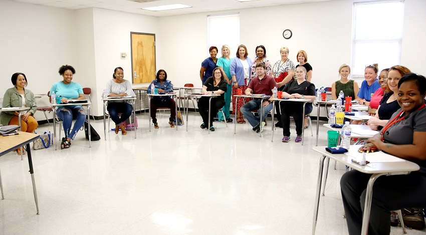 Twelve graduates of East Mississippi College's Licensed Practical Nursing program are returning to the college this semester to comprise the newly created LPN to RN Transitions Track, which will allow them to become registered nurses.