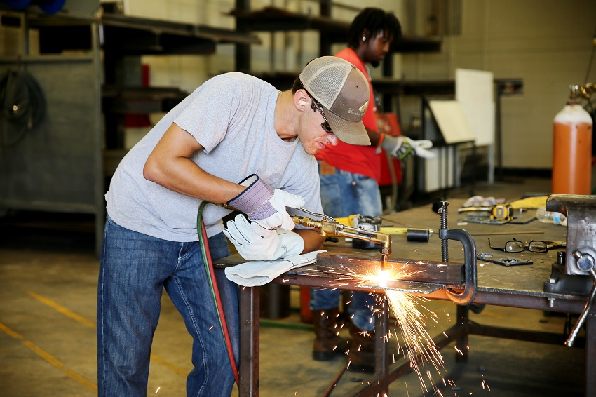 DeKalb resident Dustin Davis of DeKalb is enrolled on East Mississippi Community College's Scooba campus in one of the college's welding programs. Registration is under way for two new night welding courses at the Scooba campus.