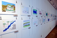 Artwork by area elementary school students is on display at East Mississippi Community College's Golden Triangle campus and a reception that is open to the public will be held for the artists March 21.