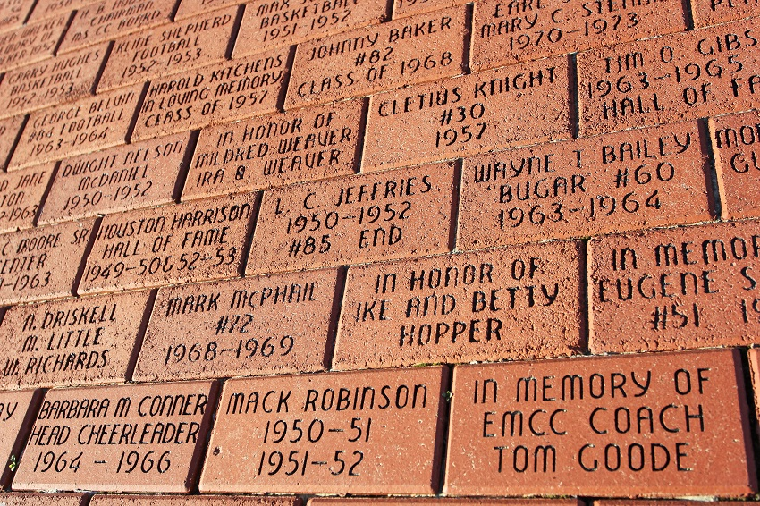 The EMCC Development Foundation is selling engraved brick pavers for a limited time at Sullivan-Windham Field and at Chapel in the Pines.