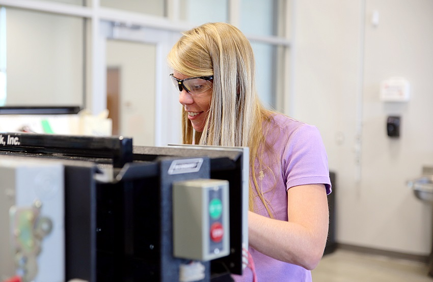 East Mississippi Community College sophomore Camille Cooper is among a growing number of students at the college enrolling in career technical programs.