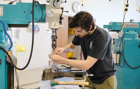 Although he plans to earn a four-year degree in Engineering, Ryan Nicholson is working on a certificate in Precision Manufacturing and Machining Technology at East Mississippi Community College so he will have a backup plan and another career option.
