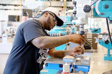 Curtis Williams is enrolled in the Precision Manufacturing and Machining Technology program at East Mississippi Community College's Communiversity. Williams said he always knew he would go into a career technical program.