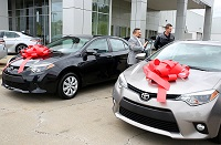 Students enrolled in East Mississippi Community College's Automotive Technology Program have two Toyota Corollas to hone their skills on thanks to a donation of the vehicles by Carl Hogan Toyota.