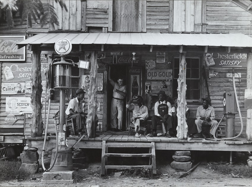 "This photo of a general store in Gordonton, N.C., circa 1936, is part of the ""Crossroads: Change in Rural America"" exhibition that will be on display at EMCC in early 2021. Photo by Dorothea Lange, Library of Congress"