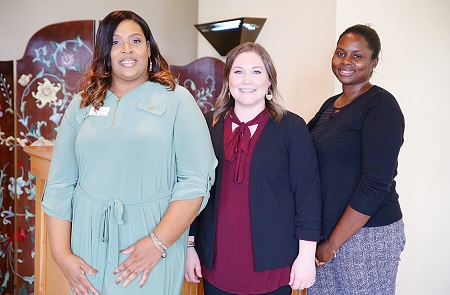 From left, Carolyn Harris, Michelle Cleveland and Jennifer Bell, who work at the Early Childhood Academy on East Mississippi Community College's Golden Triangle campus, are working with area child care and Head Start center operators to improve the quality of services offered at the facilities.