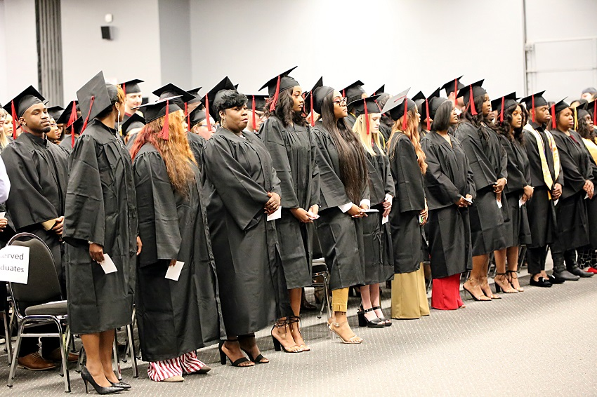 East Mississippi Community College held fall 2019 commencement ceremonies Friday, Dec. 13, at the college's Scooba and Golden Triangle campuses for about 300 students.