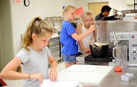 Children enrolled in East Mississippi Community College's Kids Culinary Camp at the Lion Hills Center are learning to make bread, pastries and a variety of dishes from scratch.
