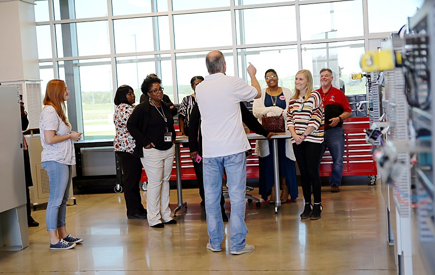 Attendees of a MIBEST information session held Oct. 22 at East Mississippi Community College's Communiversity were treated to a tour of that facility.