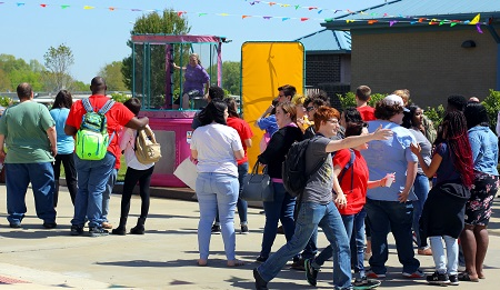 Students enjoy the activities during last year's Pine Grove Arts Festival on the Golden Triangle campus, which takes place April 11. Festival activities are planned for the Scooba campus April 9-12.