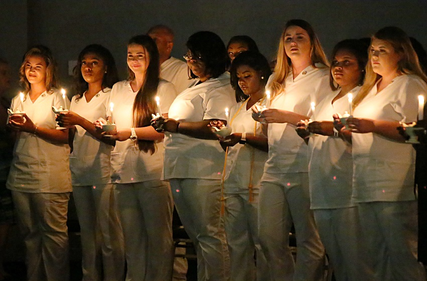 Twenty-seven students graduated from East Mississippi Community College's Practical Nursing program in a pinning ceremony the night of Thursday, July 11, in the Lyceum Auditorium on the Golden Triangle campus.