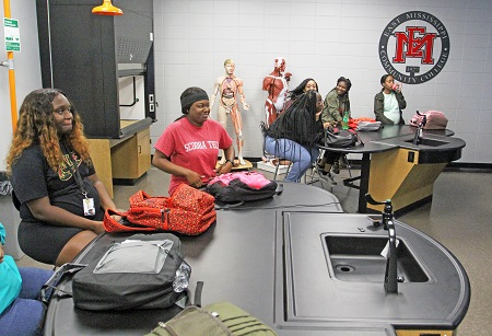 The remodeled science lab in Oktibbeha Hall Math & Science Building on the Scooba campus includes new combination desks and lab sinks and is equipped with the latest technology.