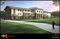This conceptual rendering by LPK Architects, P.A., depicts what the new residence hall to be built on EMCC's Scooba campus will look like. Art provided by LPK Architects, P.A.