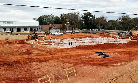 Site work has begun on a new $11.5-million men's residence hall that will be located on the site of the old football field on EMCC's Scooba campus.