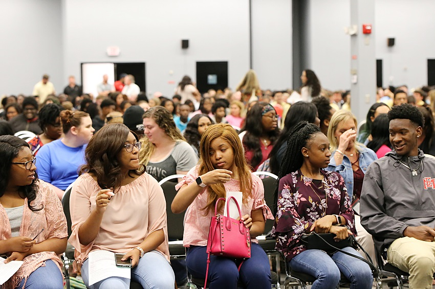 "About 750 seniors from high schools in Lowndes County attended a ""Senior Sendoff"" Wednesday, May 1, in the Lyceum Auditorium on East Mississippi Community College's Golden Triangle campus."
