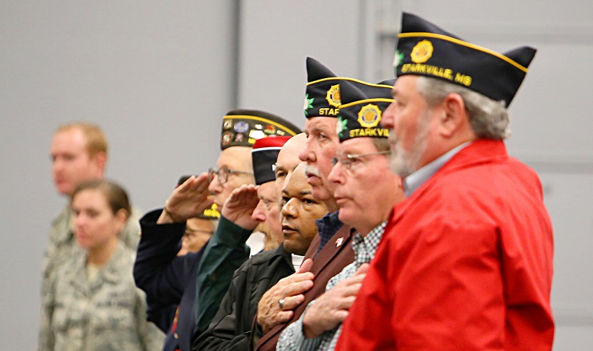 "These veterans were among the attendees of last year's ""Proud to be an American"" event on East Mississippi Community College's Golden Triangle campus. Ceremonies to pay tribute to veterans will take place on the Scooba and Golden Triangle campuses this year."
