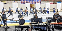 Members of East Mississippi Community College's new Winter Percussion group perform during their first competition Feb. 8 at Neshoba Central High School. The group is gearing up for another competition Feb. 22 in Pearl and the Mississippi Indoor Association state competition March 27 in Jackson.
