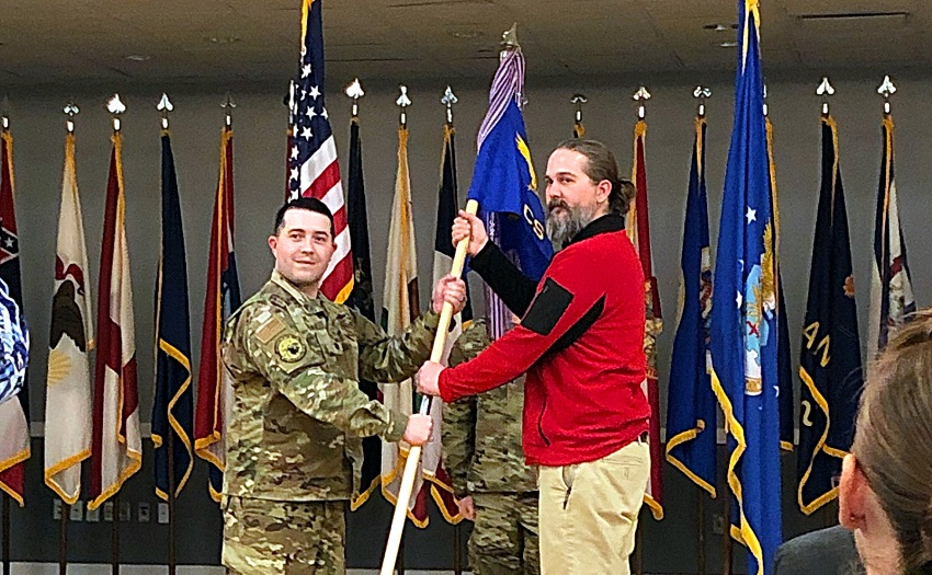 East Mississippi Community College Information Systems Technology Department Director Brandon Sesser was named an Honorary Commander of the 14th Communications Squadron at Columbus Air Force Base during an induction ceremony that took place Tuesday, Jan. 21.