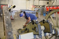 Last fall, welding Technology students on East Mississippi Community College's Golden Triangle campus helped restore a reproduction cannon carriage likely built in 1901 that is on display at Mississippi State University's Ulysses S. Grant Presidential Library.
