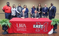 The University of West Alabama and East Mississippi Community College signed a memorandum of understanding on Monday, Jan. 27 to formalize transfer opportunities for EMCC students who wish to continue their postsecondary education at UWA.