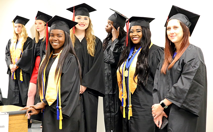 EMCC will conduct a virtual graduation ceremony this year in response to concerns over the coronavirus. This photo was taken during EMCC's May 2019 graduation ceremony.