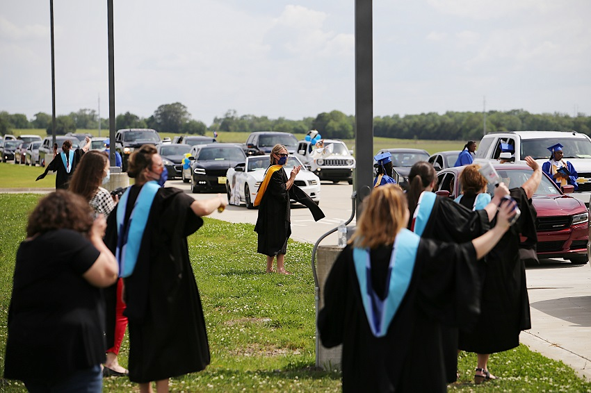 The Golden Triangle Early College High School on East Mississippi Community College's Golden Triangle campus conducted a drive-through commencement ceremony May 16.