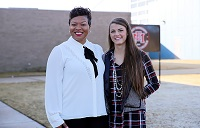 East Mississippi Community College Associate Degree Nursing instructor Eljenette West, at left, and student Amber Chancellor are the college's 2020 Higher Education Appreciation Day, Working for Academic Excellence award recipients.