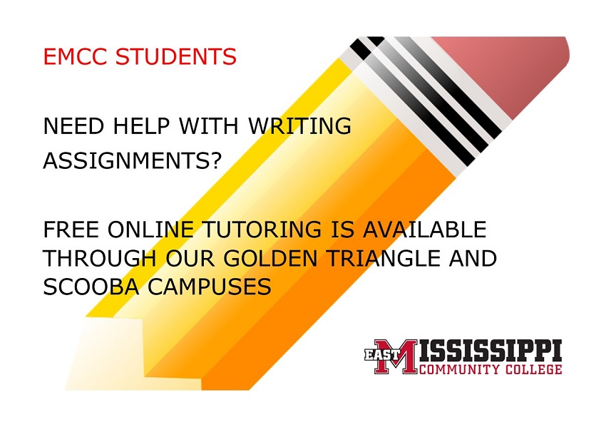 East Mississippi Community College students who need help with writing assignments can take advantage of free online tutoring services available through the college's Golden Triangle and Scooba campuses.
