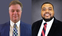 EMCC staff members Dr. Michael Busby, at left, and Dr. Jairus Johnson, at right, have been promoted. Busby is now the dean of instruction for the Golden Triangle campus, while Johnson has been tapped to fill the dean of instruction position on the Scooba campus.