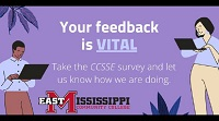 This spring, East Mississippi Community College will participate in the Community College Survey of Student Engagement (CCSSE), a national student survey focused on teaching, learning and retention in community colleges.