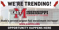 While overall fall enrollment numbers compared to the same time last year are down by more than 5 percent at public colleges statewide, East Mississippi Community College saw an increase in enrollment this year.