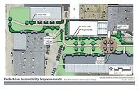 East Mississippi Community College has been awarded federal funds administered by the Local Public Agencies division of the Mississippi Department of Transportation to construct walking paths, pedestrian crosswalks and courtyards on the college's Golden Triangle and Scooba campuses.