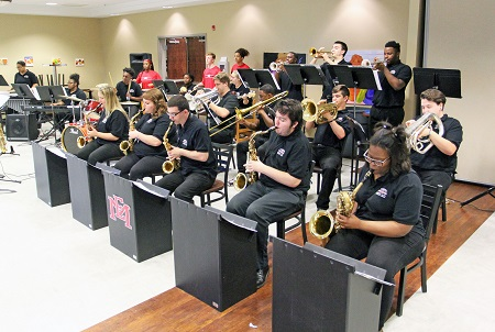 The East Mississippi Community College Jazz Ensemble performs in the F.R. Young Student Union in this file photo from the 2019 Pine Grove Arts Festival. The festival returns April 13-21 this year with activities on EMCC's Scooba and Golden Triangle campuses.
