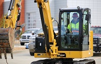 Collin Coggins, a recent graduate of East Mississippi Community College's Heavy Civil Construction program, operates an excavator at EMCC's Communiversity in Mahew, where the program was first offered. The program will be taught beginning in August on EMCC's Scooba campus.